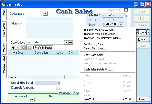Alpine Tech Sales – Cash Sales Invoice Sample