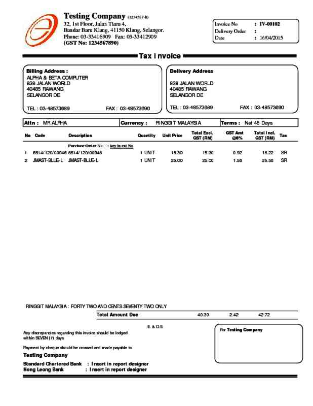 Alpine Tech :: Sales Invoice
