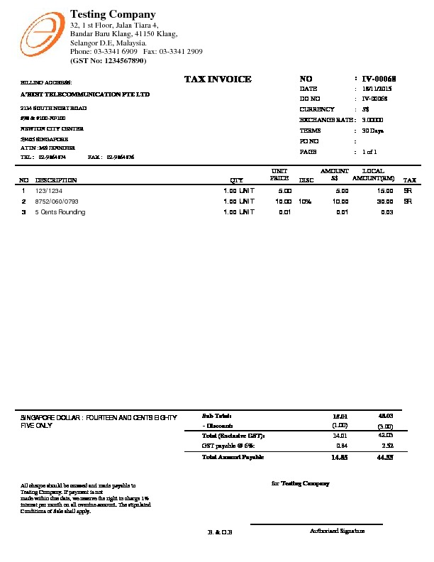 Tax Invoice Layout. Tax Invoice Template Sample Pdf Tax Invoice